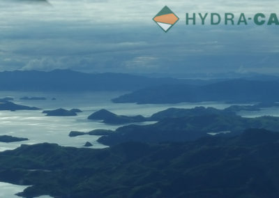 Plane view of the Coromandel peninsula in New Zealand