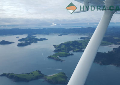planer wing over looking landscape of the Coromandel, New Zealand